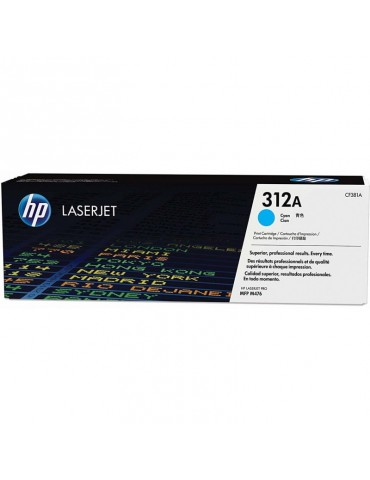 HP 312A Cyan Toner HP LaserJet d'origine (CF381A)