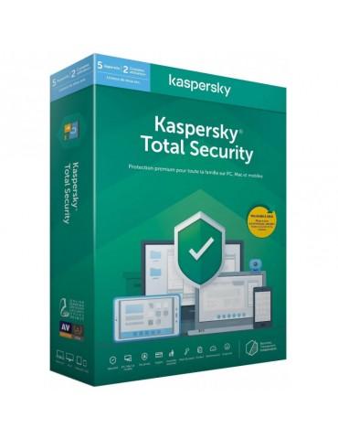 Kaspersky Total Security 2020 - 5 Postes / 1 an (KL19498BEFS-20MAG)