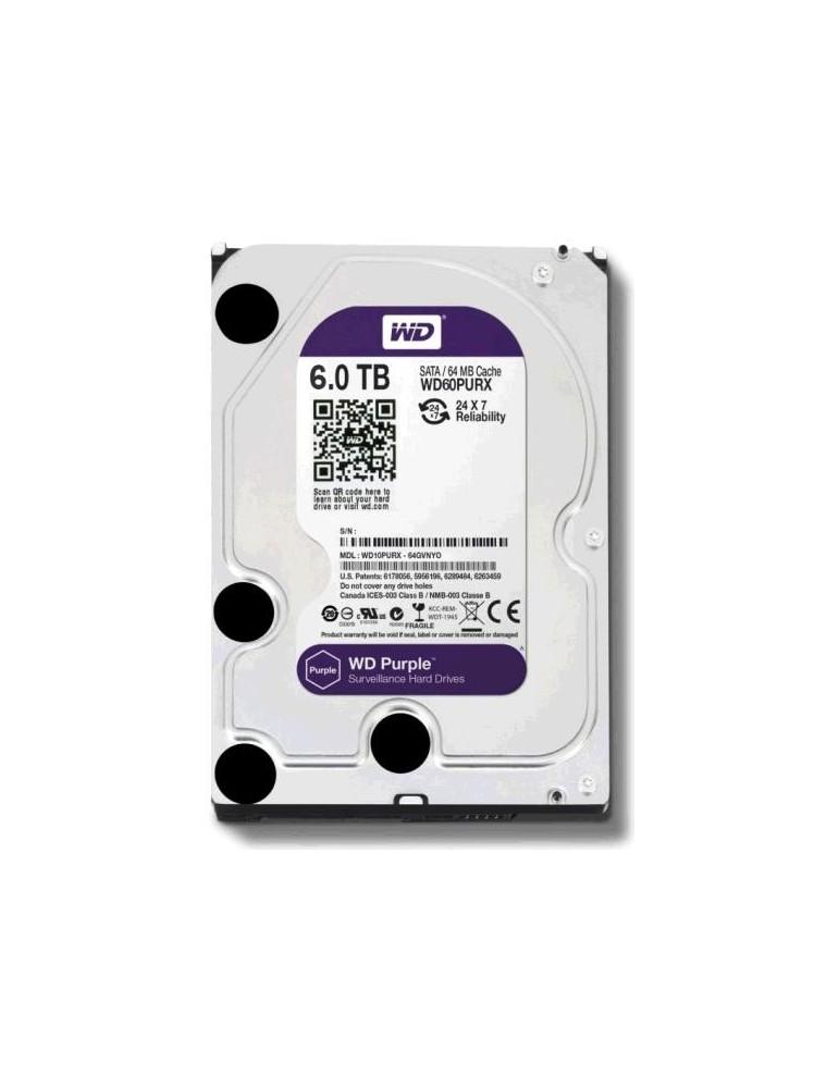 HDD 6TO WD PURPLE SATA WD60PURZ 3P1HDDWD021