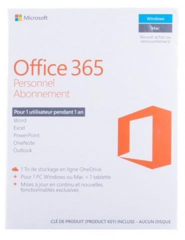 Microsoft Office 365 Personnel Français / 1 an (QQ2-01039)