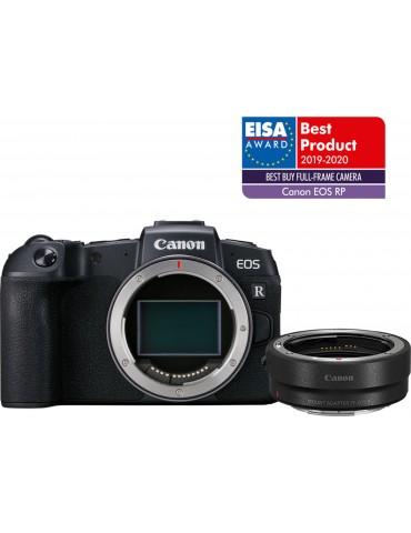 Reflex Canon EOS RP Boîtier et bague d'adaptation monture EF-EOS R (3380C023AA)