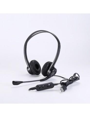 Casque/Micro USB UPTEC avec suppression bruit ambiant (4060100)