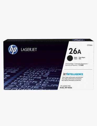 HP 26A Toner LaserJet Noir authentique d'origine (CF226A)