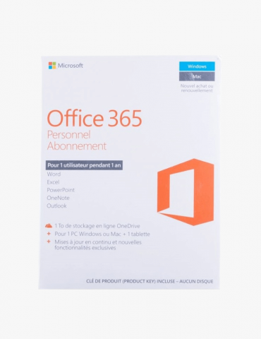 Microsoft Office 365 Personnel Français - 1 an (QQ2-00890)